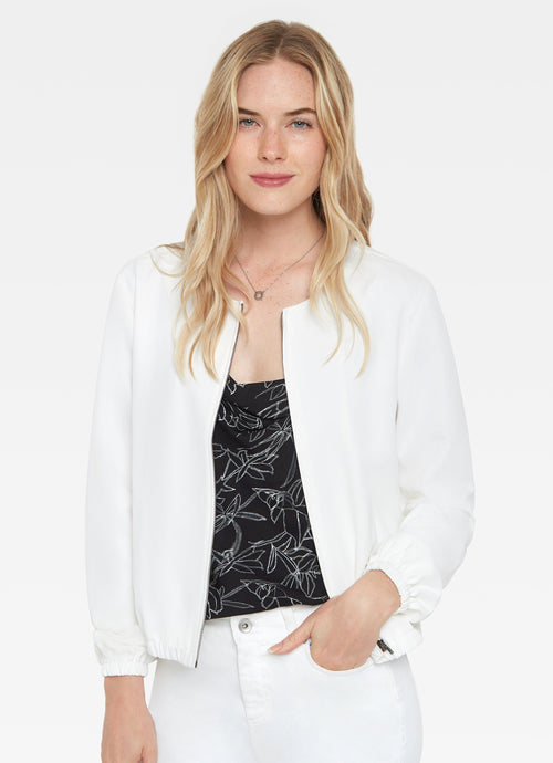 Soft Bomber Jacket in White