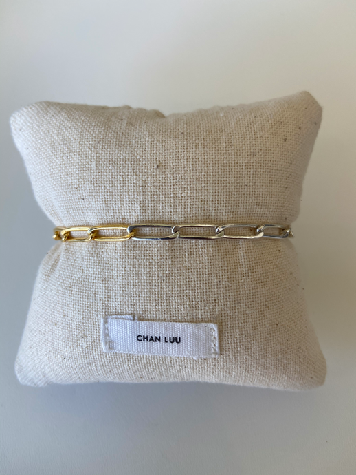 Box Chain Bracelet in Gold Mix