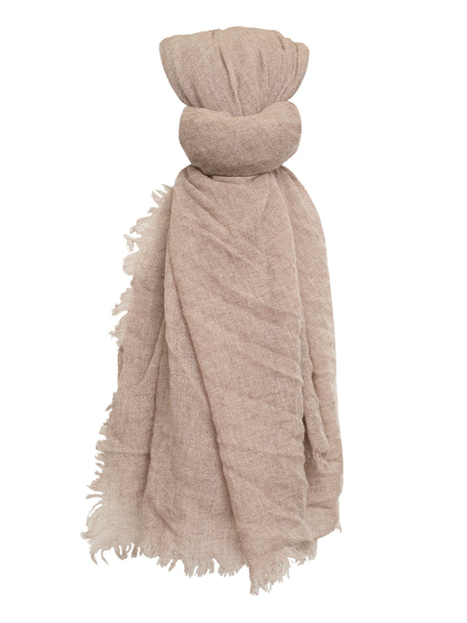 100% Cashmere Scarf in Heather Brown