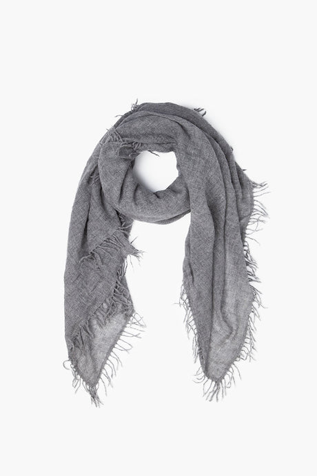100% Cashmere Scarf in Heather Grey