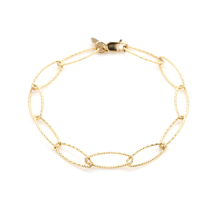 Lisbon Diamond Cut Bracelet in Gold