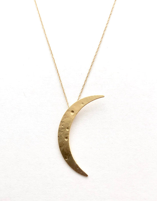 14k Moon Necklace
