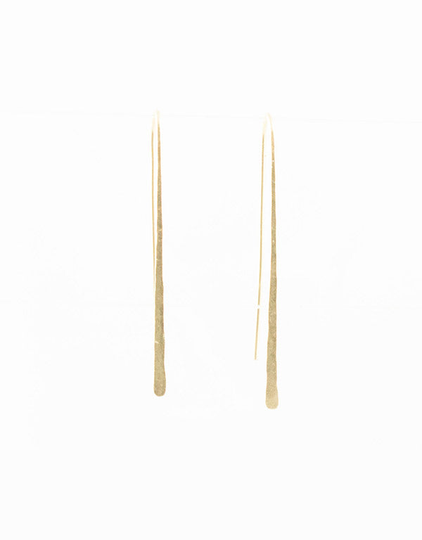 Long Pushpin Earrings in Gold