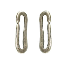 Vintage Silver Safety Pin Studs