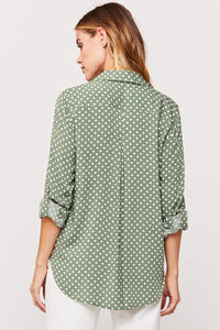 Fidora Polka Dot Blouse in Sage