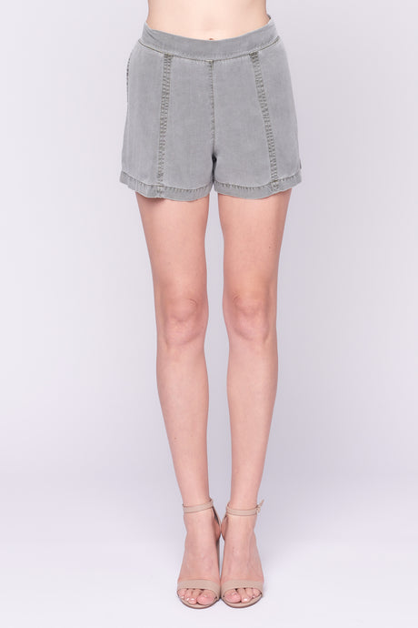 High Waisted Shorts in Grey