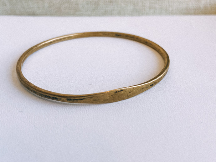 Hammered Bronze Bangle