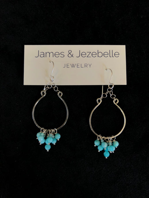 Amazonite Fringe Earrings