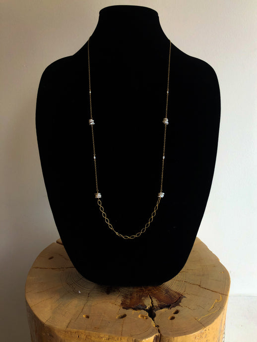 Keishi Pearl Long Necklace