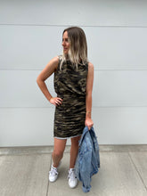 Camo Ruched Dress