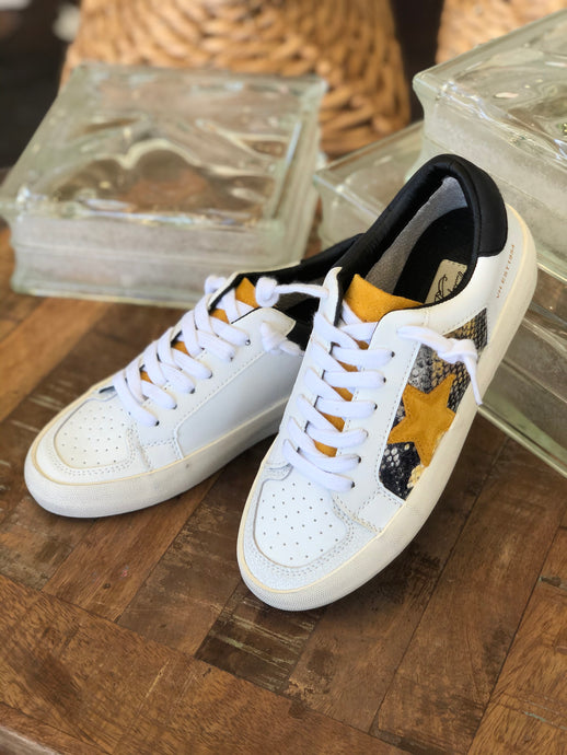 Prince Sneakers in White Snake Multi