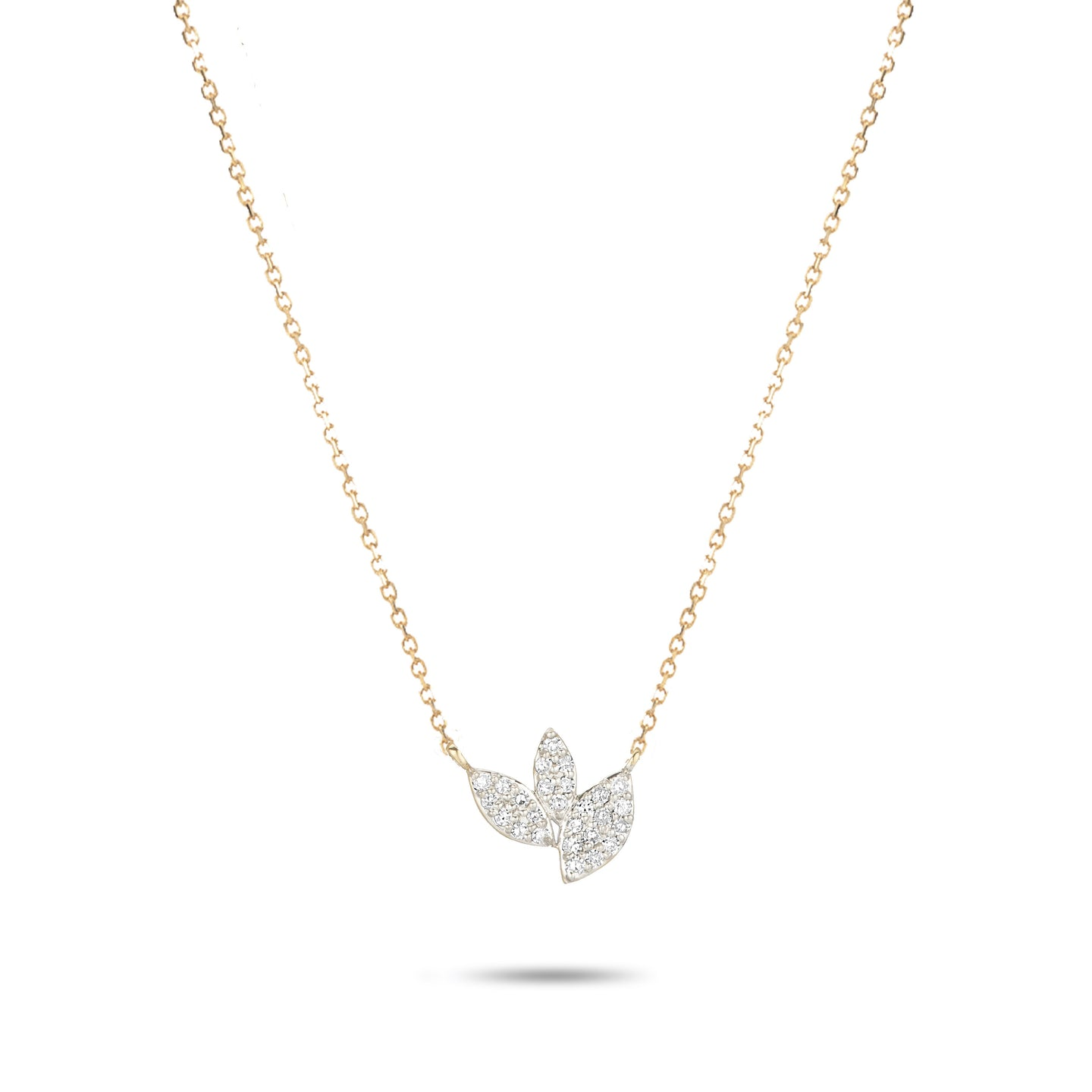 Tiny Pave Marquise Cluster Necklace