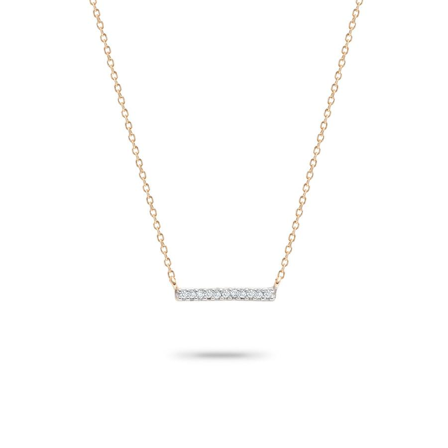 Tiny Pave Bar Necklace