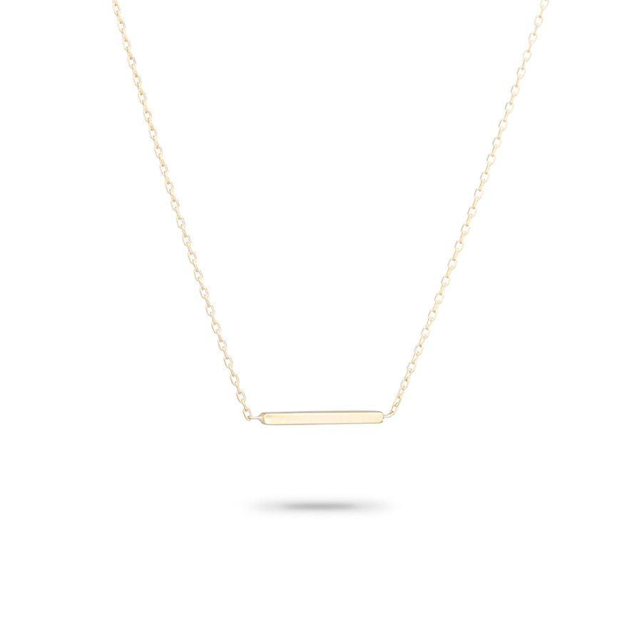 Tiny Gold Bar Necklace