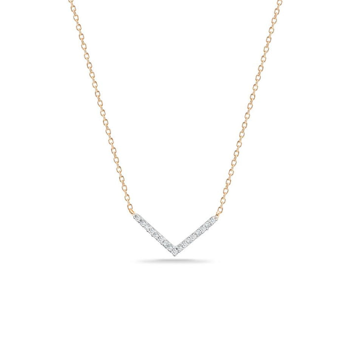 Tiny Pave V Necklace