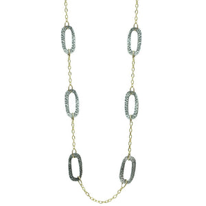 Two Tone Chunky Catena Station Necklace