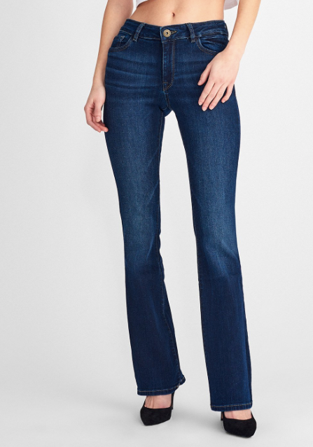 Bridget High Rise Bootcut in Peak