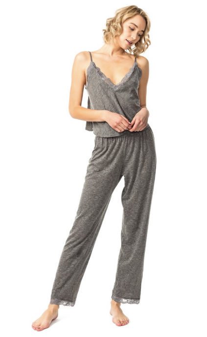 Luna Lounge Set in Heather Grey