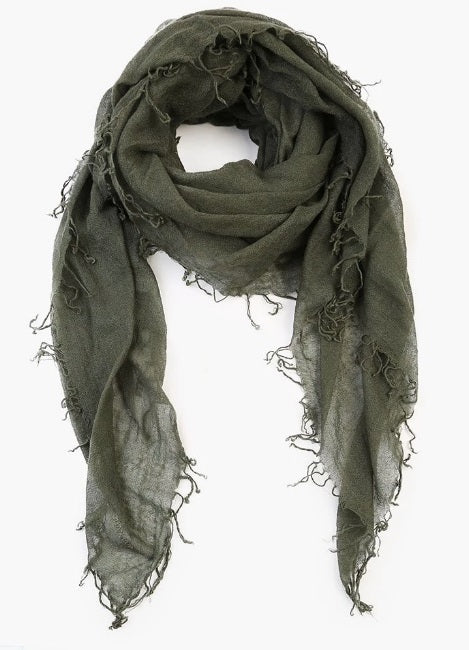 Cashmere & Silk Scarf in Beetle
