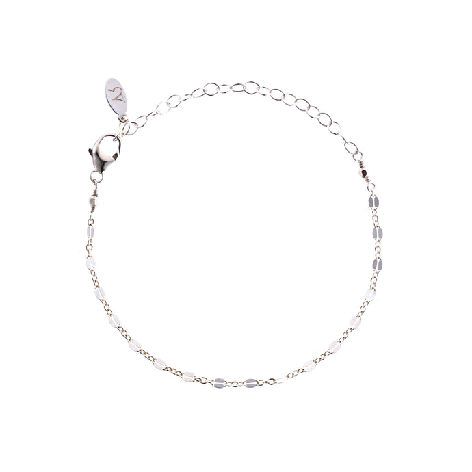 Greece Dainty Chain Bracelet in Silver