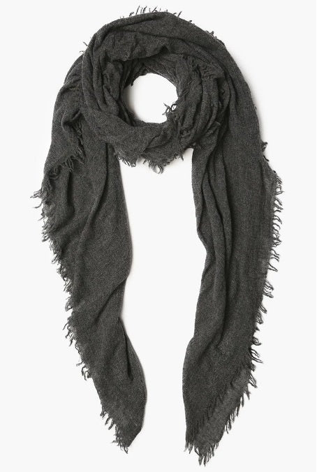 100% Cashmere Scarf in Charcoal