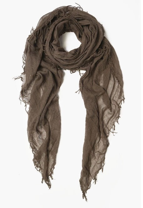Cashmere & Silk Scarf in Chocolate Chip