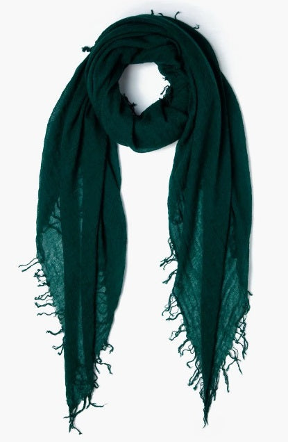Cashmere & Silk Scarf in Deep Teal