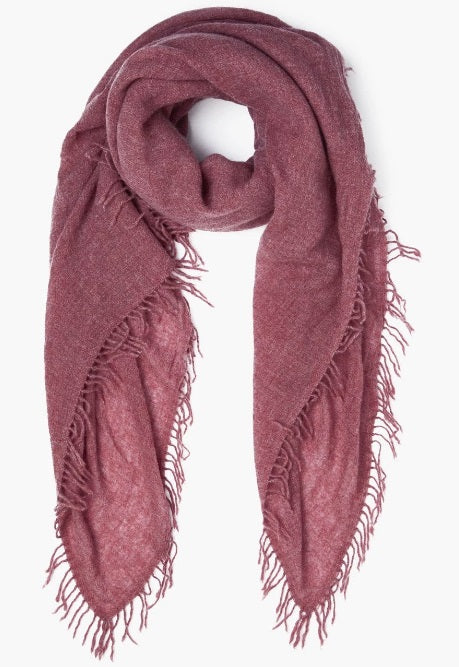 100% Cashmere Scarf in Dusty Brick