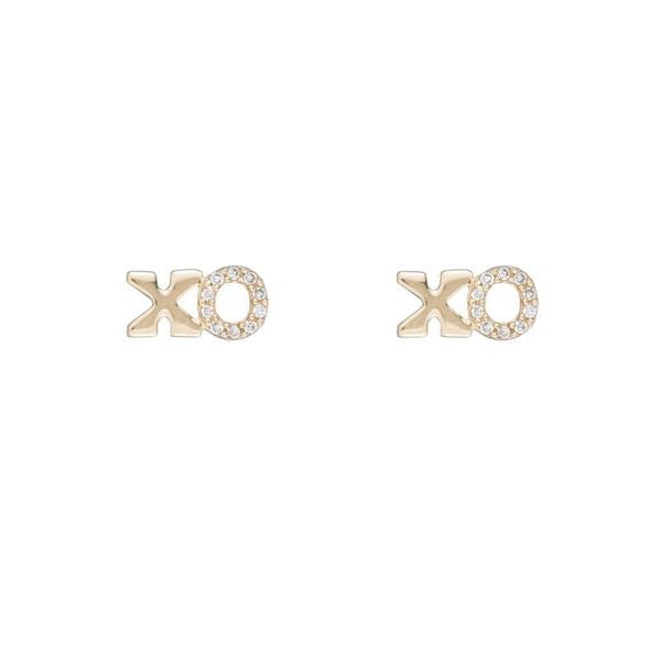 14k Diamond XO Studs