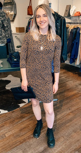 Eros Dress in Warm Leopard