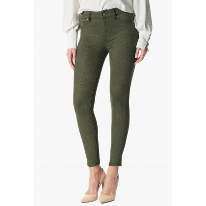 High Waist Ankle Skinny in Olive