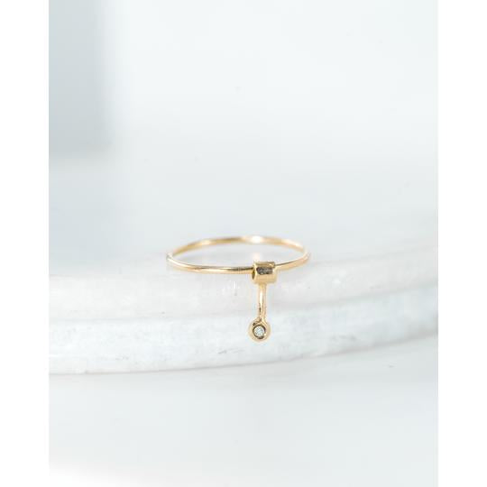 Diamond Goldfinch Ring