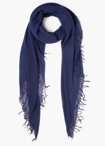 Cashmere & Silk Scarf in Medieval Blue