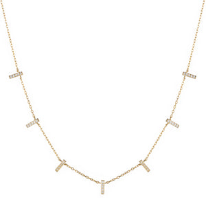 Melrose CZ Pave Bar Necklace
