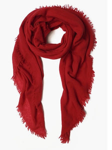 100% Cashmere Scarf in Red