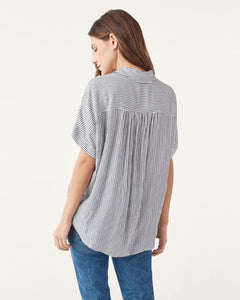 Lily Shirt in Black/White Stripe