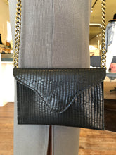 Miley Crossbody in Black Crocodile