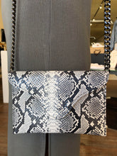 Miley Crossbody in Black/White Python