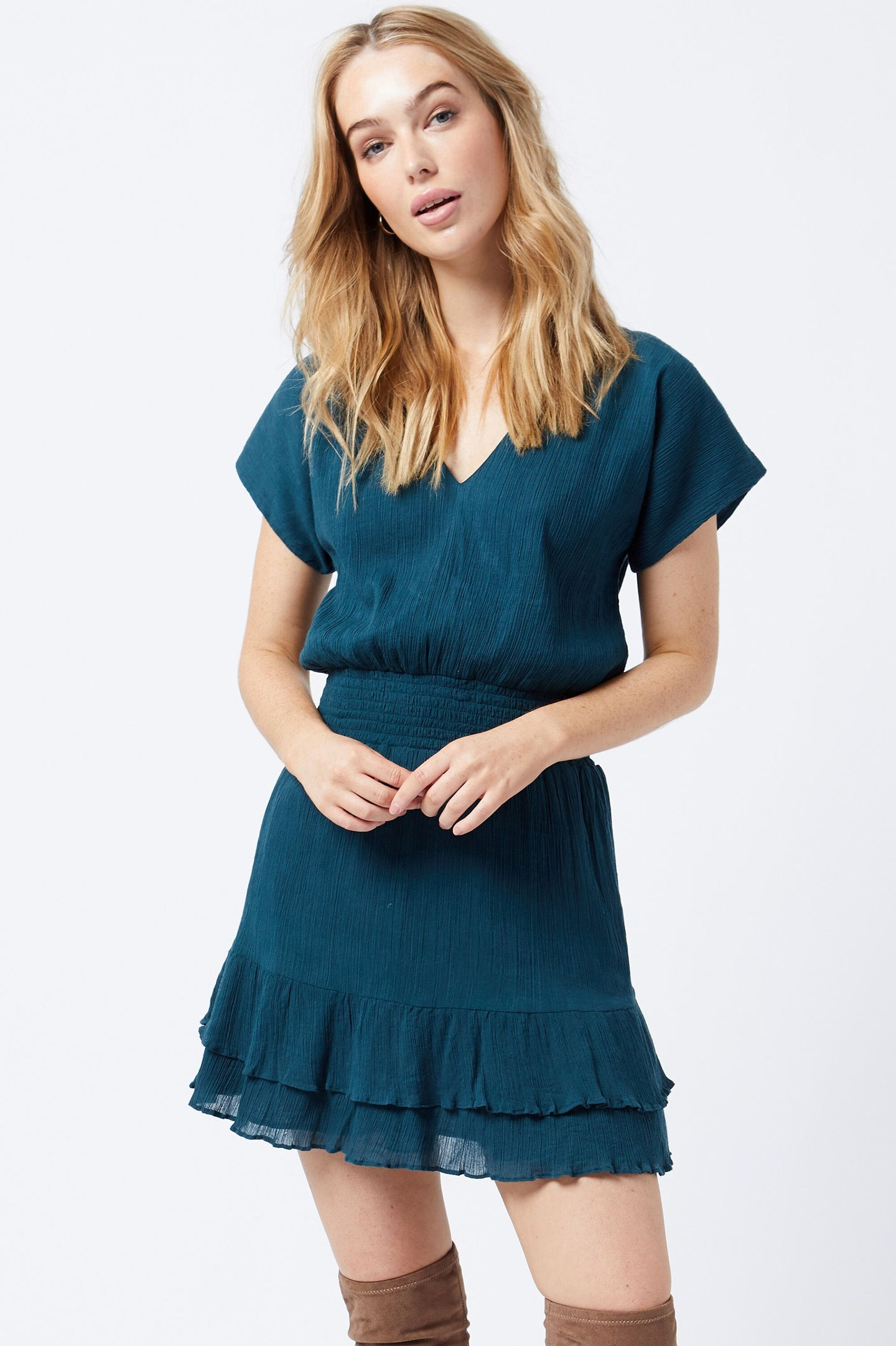 Escape Dress in Georgie Crinkle