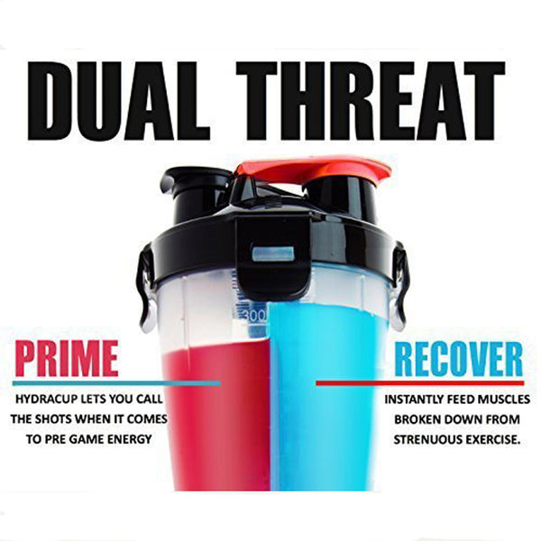 A Powerful Leakproof Dual Protein Shaker Bottle
