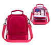 New sleek design thick warm thermal red lunch bag