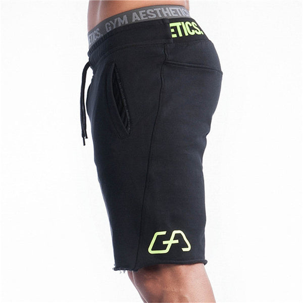 Mens Gym Cotton Bodybuilding Shorts
