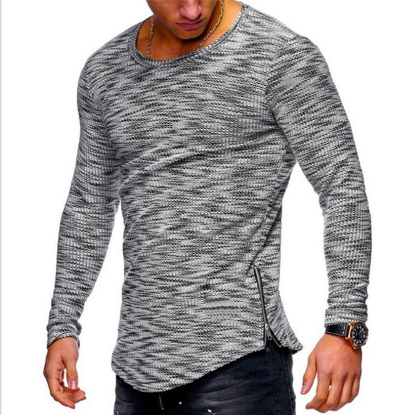 Long Sleeve Cotton Shirt Zipper