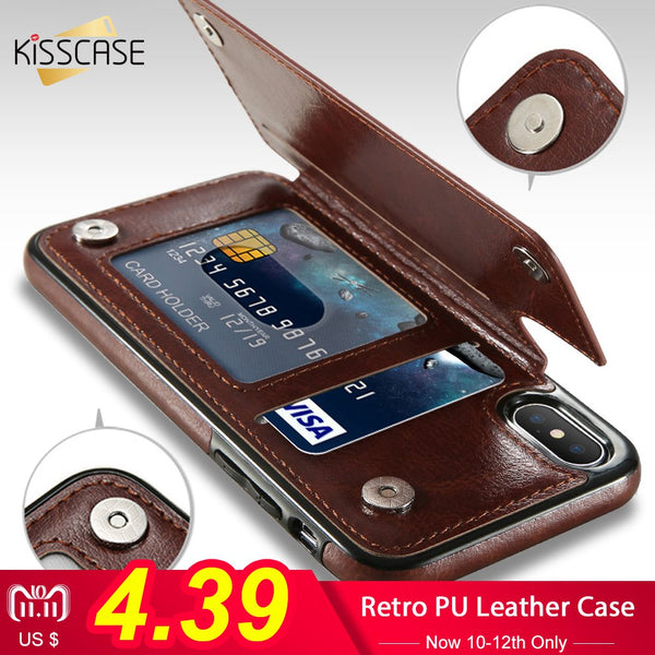 Leather Wallet Case For IPhone - inshapekit