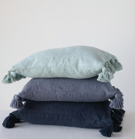 Tassel Lumbar Pillows