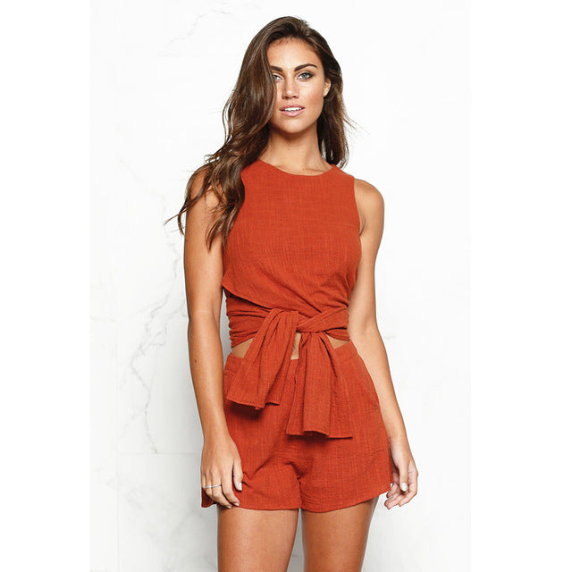 Simone Two Piece Shorts Set
