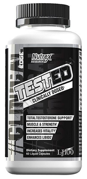 Nutrex TESTED 60 Liquid Capsules - Fitness Mania Supps