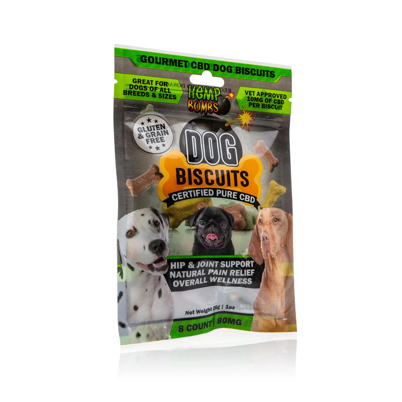 Hemp Bombs CBD Dog Bisuits 8 Count - Fitness Mania Supps