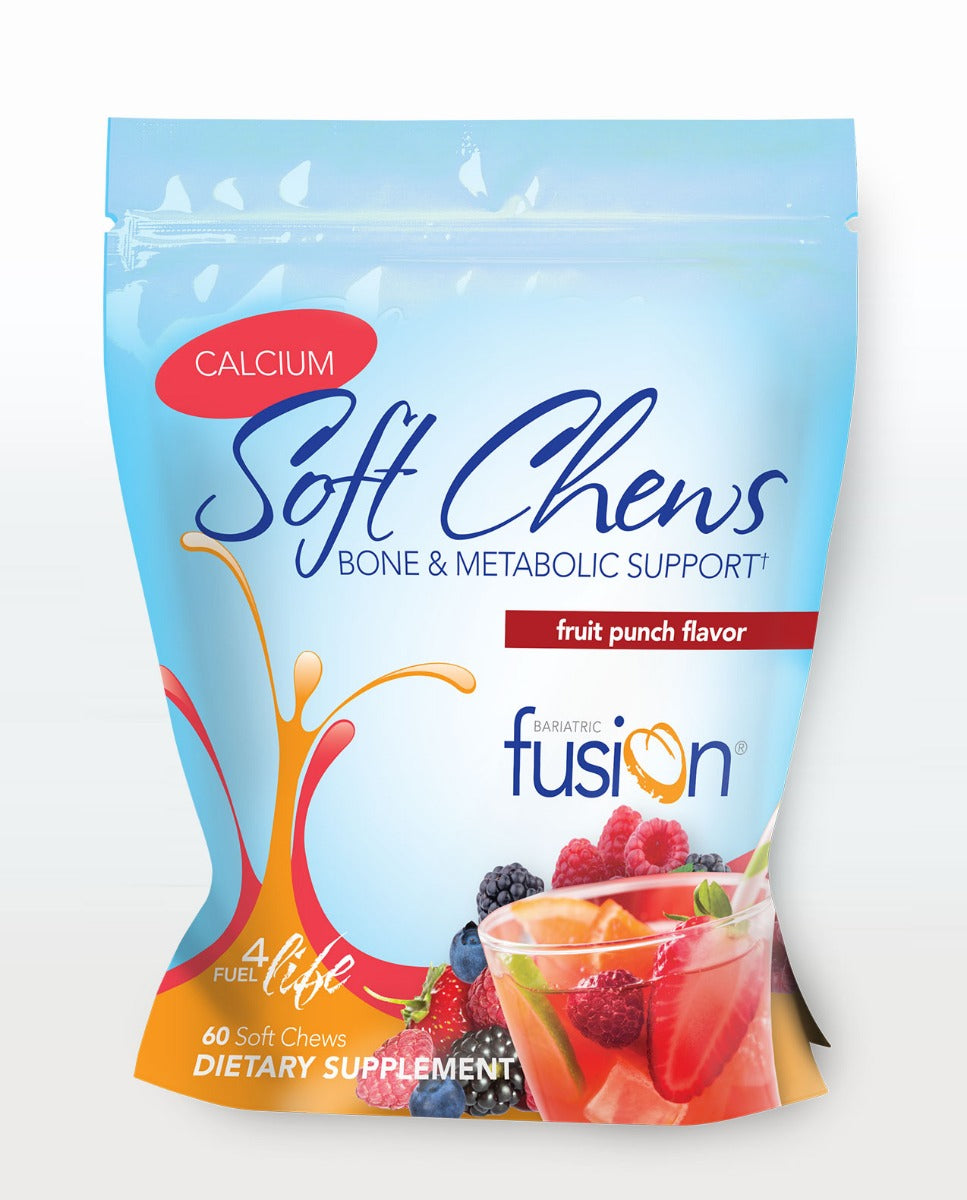 Bariatric Fusion Calcium Soft Chew - Bone & Metabolic Support 60 Soft Chews Fruit Punch - Fitness Mania Supps