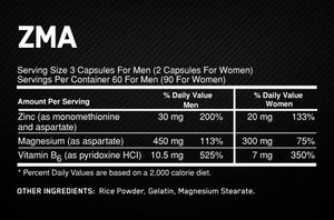Optimum Nutrition ZMA 90 Capsules - Fitness Mania Supps